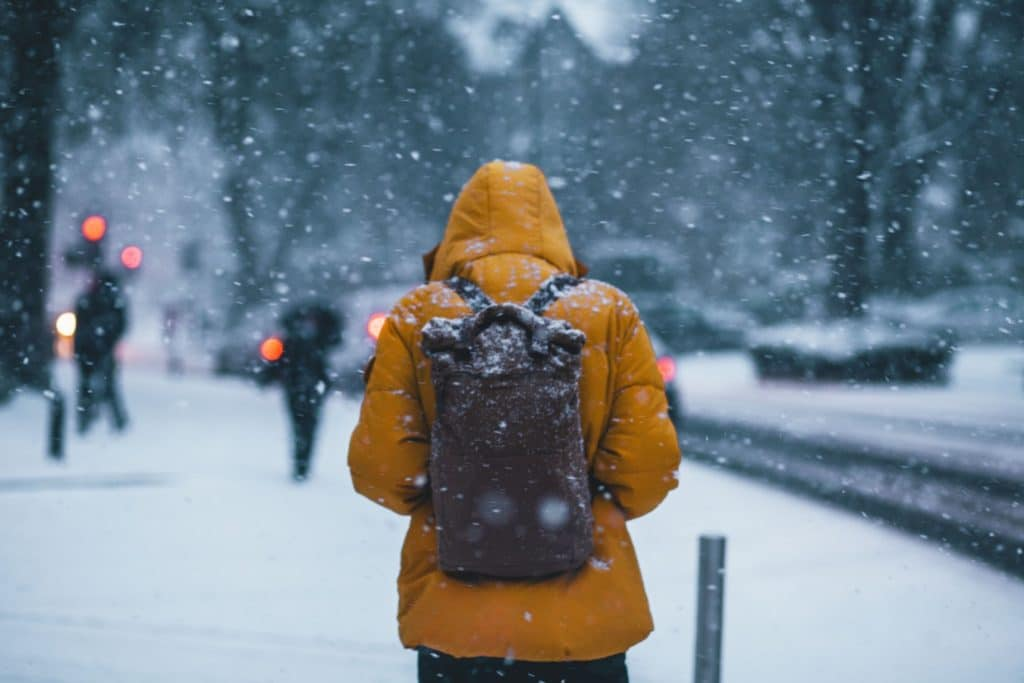 neige et travail